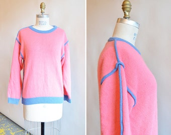 Vintage 1980s BUBBLEGUM pink pullover