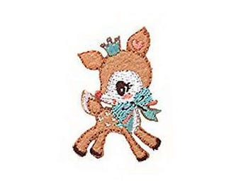 Sanrio Deer wappen Iron on Embroidery Patch Applique from Japan WA07
