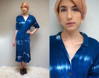 90s Gauze Dress  //  Corset Tie Dress  //  Tie Dye Dress  //  MOON and STARS