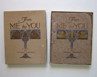 antique gift book - From Me to You - circa 1911 - gift book in box - a gift of friendly thoughts by Edwin Osgood Grover