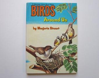 vintage BIRD book - BIRDS Around Us - Whitman LearnAbout book - 1961 children's bird book