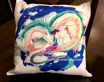 Spirited Away pillow case 17x16