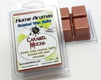 CARAMEL MOCHA Wax Melt | 6 breakaway cubes | soy blend clamshell type