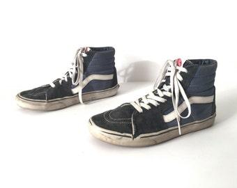 vintage SKATER men's VAN'S high tops classic blue MEN'S size 8.5 vintage shoes