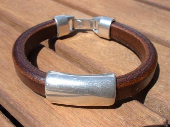 Silver bracelets for Men, leather Bracelets, leather jewelry, silver bracelets, sterling silver bracelet, silver jewelry Mens bracelets
