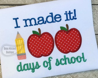 100 days of school I made it apple/pencil  applique