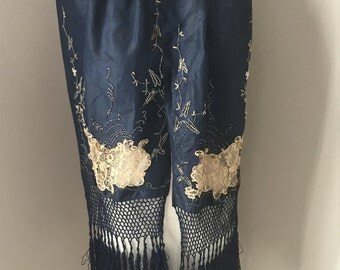 Vintage Victorian Silk Dress Panels