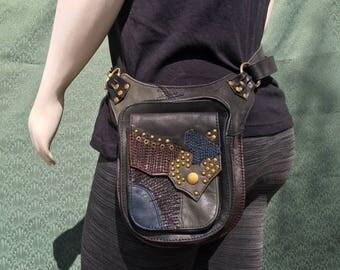 J9's Bindle Bag Patchwork utility belt and shoulder bag