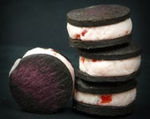 Maraschino Cherry Vanilla Cream Oreos - Stamped with French love letters - Romantic and Fun Valentine Gift
