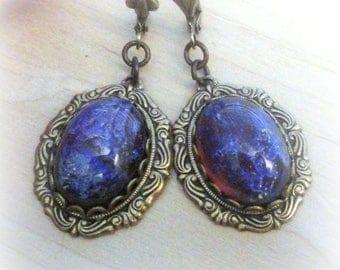 Dragon's Breath Opal Victorian Earrings Birthday Gift for Girlfriend Fire Opal Red Jewelry Mexican Fire Opal Victorian Jewelry