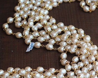 Old Stock Miriam Haskell Pearl Chain
