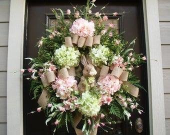 Sweet Bunny Wreath, Wreath, Easter Door Wreath, Easter Bunny Wreath, Spring Wreath, Easter Wreath