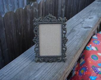 Vintage Ornate Bronze Like Metal Frame - Made in Italy - Beautiful