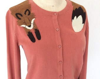 Fox Cardigan in Rose Pink by Dandyrions/ Women's Clothing for Summer