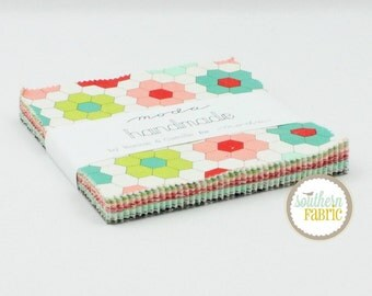 Handmade - Charm Pack by Bonnie and Camille for Moda (55140PP) 5 inch 42 Quilt Fabric Squares