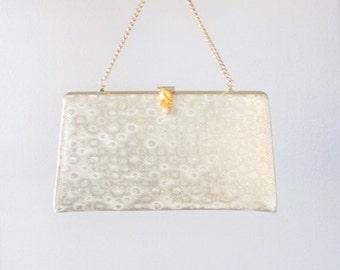 ON SALE NOW Vintage 1960's Golden Handbag Purse / Formal Shimmery Gold Evening Bag