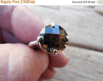 ON SALE Smokey quartz ring in sterling silver
