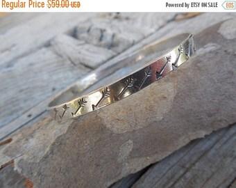 ON SALE Arrow bangle bracelet handmade in sterling silver
