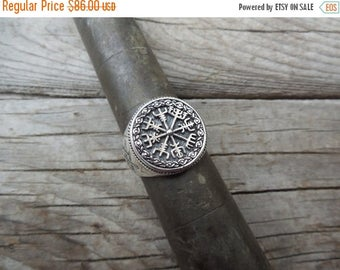 ON SALE Viking compass ring handmade in sterling silver 925
