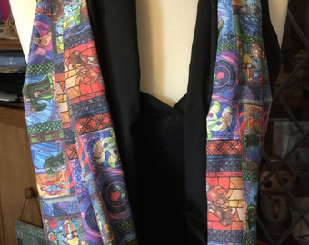 Beauty and the Beast Stained Glass window Infinity Scarf
