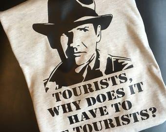 Indiana Jones Tourists tee Indy ride inspired