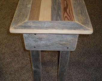 Small Scrap Barn Wood Side Table