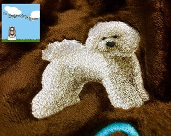 Bichon Frise Blanket-Custom Embroidered-Soft and Cozy