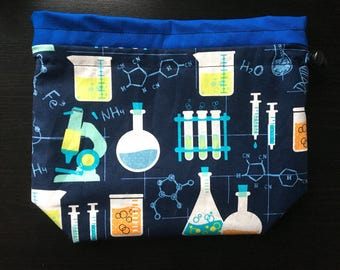 I Love Chemistry Drawstring Bag