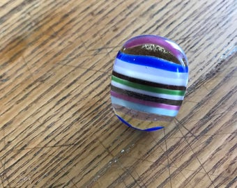 Rainbow Fused Glass Ring