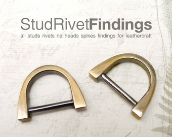 4pcs 19mm (inside) ZINC horseshoe D RING FOB Purse Hardware Finding for Purse Ring, Clasps Hook Ring dr03/ High Quality