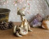 Golden Kitsune Fox - Nine-tailed Kitsune Fox by Bonjour Poupette