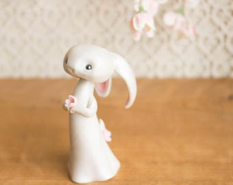 White Rabbit Figurine by Bonjour Poupette