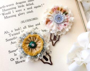 Page Marker, Bookmark, Planner Accessory, Flower Paper Clips, Teacher Gift, Gift for Friend, Grad Gift, Gift for Book Lover, Gardener Gift