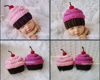 Newborn Girl Hat, Baby Girl Cupcake Hat, Baby Girl Hat, Children Hat, Newborn Photography Prop, Newborn Photo Prop