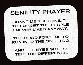 Refrigerator Magnet  (Senility Prayer)