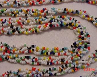 Vintage Multi Colored Plastic Bead Necklace   16 - 640