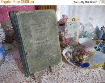 ON SALE Vintage 1883 Primer-Indiana School Book-Second Year Reader