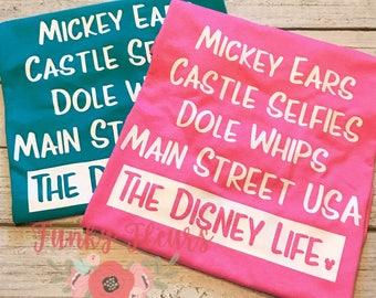 Disney Shirt, Dole Whips, Starbucks, Main Street USA, Disney Life Shirt, Disney Vacation, Disney Life Tshirt, Disney Shirt, Disney