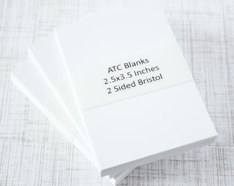 ATC Blanks ACEO Blanks Bristol Paper Artist Trading Card Supplies ACEO Supplies Altered Art Mixed Media Scrapbooking 25 Count Art Card Blank