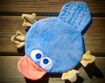 Platypus potholder, whimsical potholder, animal potholder, unique hot pad