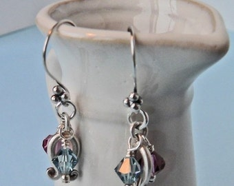 Boy or Girl... Fertility Earrings ... Sterling and Swarovski Crystal