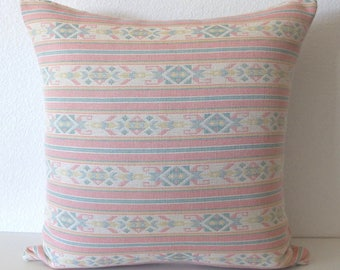 Pastel Heaven Pink Southwestern Striped  Pillow Cover