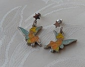 Tinkerbell Earrings, Disney Earrings, Two Sided, Vintage Earrings, Whimsical Earrings, Gift for Her