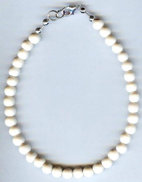 Stunning High Quality Whitewood Wood Beaded Bracelet or Necklace