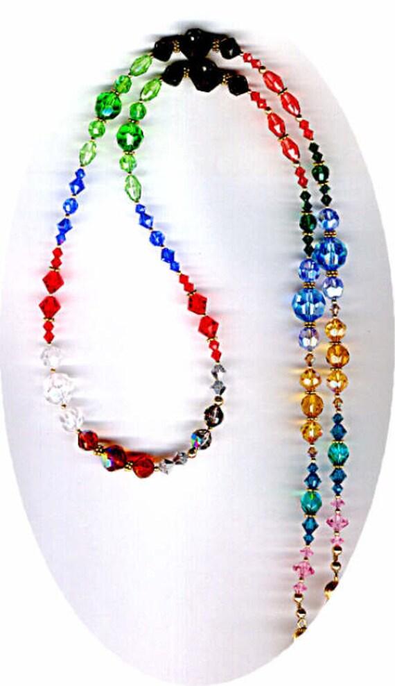 STUNNING & MAGNIFICENT Swarovski Crystal Eyeglass Chain or ID Badge Lanyard