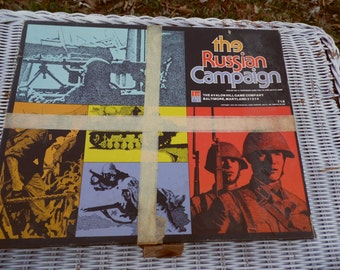 The Russian Campaign vintage 1976 Avalon Hill Game Company board game, COMPLETE, ready for action