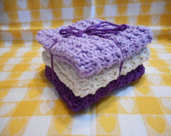 Kitchen Dishcloths Knitted  Set of 3