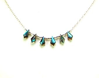 Labradorite Faceted Kites Sterling Silver Necklace - N337