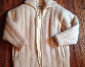 Vintage Women's Tundra 100% Pure Virgin Wool Canada Coat Jacket Sz Medium