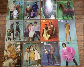 Vintage 1970's Spinnerin Popover Knitting Magazine Lot Instructions Patterns